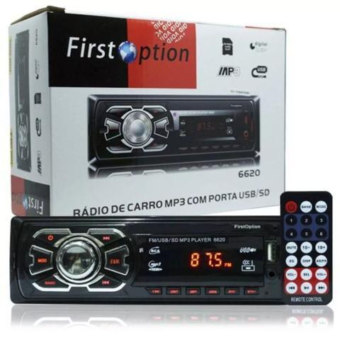 Imagem de Radio Fm P/ Carro Mp3 Automotivo Usb Sd Aux Player Toca Som