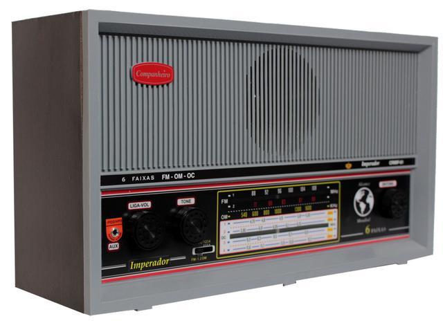 Imagem de Rádio Imperador Mesa CRMIF41 A pilha Motobras