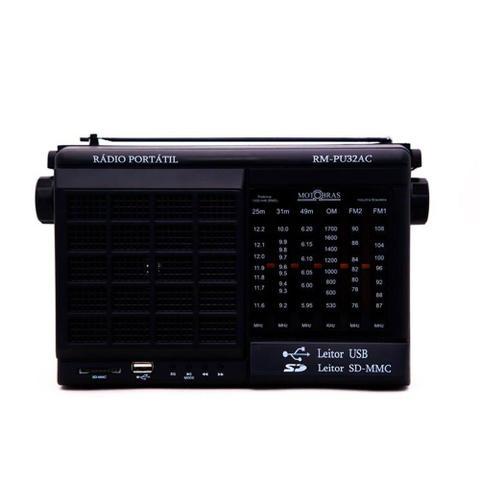 Imagem de Rádio Motobrás 6 Faixas AM FM OC com USB SD CARD RM-PU32AC