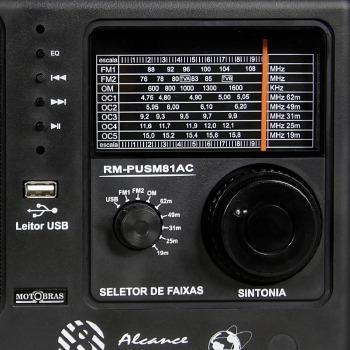 Imagem de Radio motobras 8 faixas usb fm/oc - rm-pusm81ac