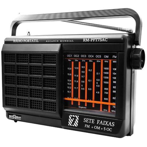 Imagem de Rádio Motobrás RM-PFT73AC 7 Faixas FM