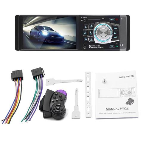 Imagem de Radio Mp3 Mp5 Player Automotivo Bluetooth 4.1 Polegadas 1 Din +Pioneer Ts-1760br 50w 6 Polegadas