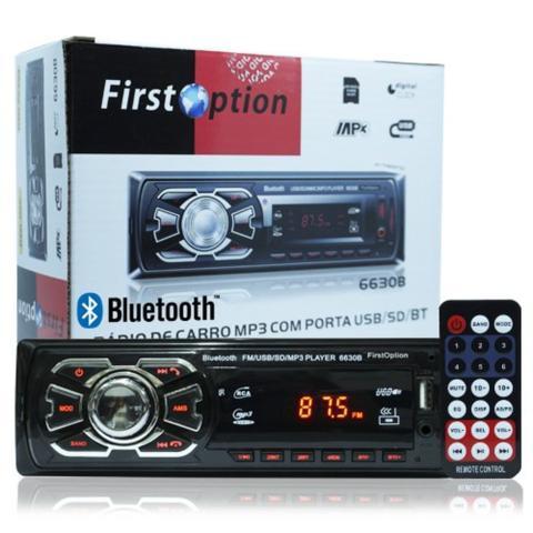 Imagem de Rádio Mp3 Player Automotivo Bluetooth First Option 6630b Fm Sd Usb Controle