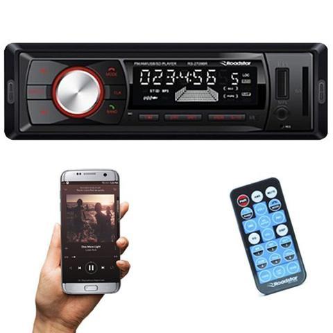Imagem de Rádio Mp3 Player Automotivo Bluetooth Roadstar RS-2709BR Fm Usb Controle 7 Cores Iluminação Botões