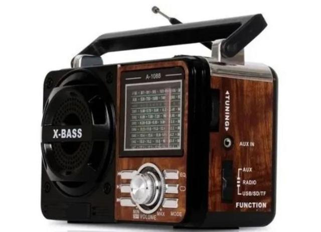 Imagem de Radio Portatil 1088 Mp3 Usb Cartao Sd Pen Drive Am/fm Cores variadas