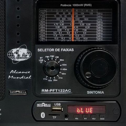 Imagem de Rádio Portátil 12 Faixas Com Sintonia Fina Usb - Motobras