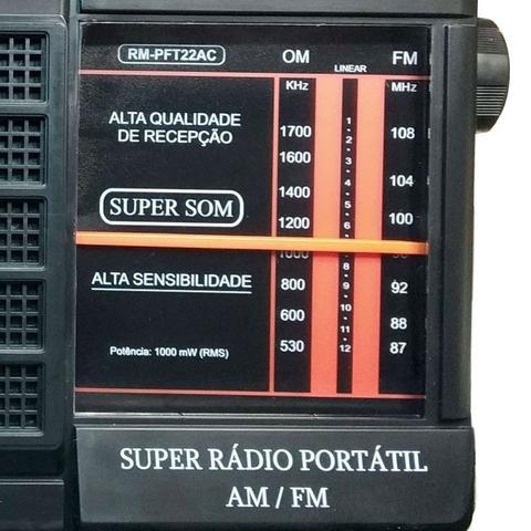 Imagem de Rádio Portátil 2 Faixas AM/FM Dungão Motobras