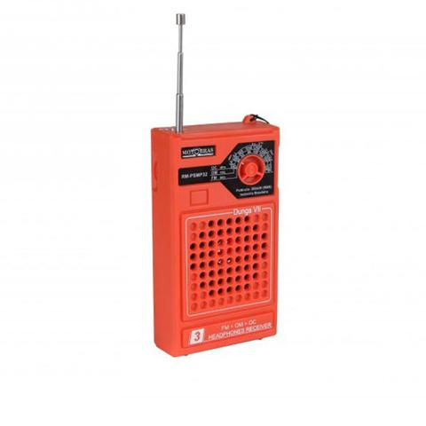 Imagem de Rádio Portátil 3 Faixas AM/FM/OC 49/31/25 Laranja RM-PSMP32L Motobras