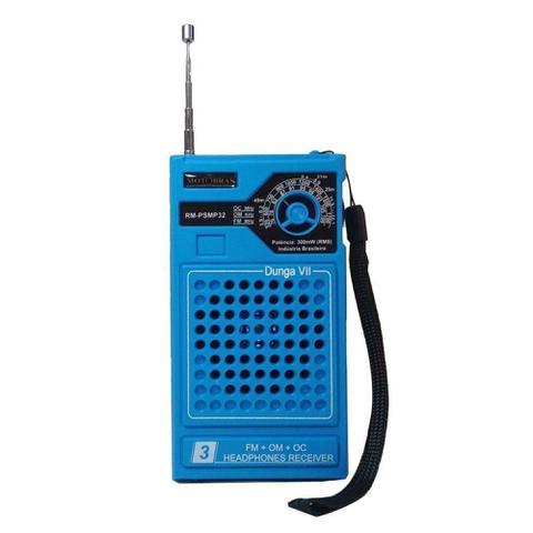 Imagem de Rádio Portátil AM/FM Azul RM-PSMP32 - Motobras - Motobrás