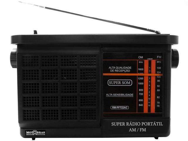 Imagem de Rádio Portátil AM/FM RM-PFT 22AC - Motobras