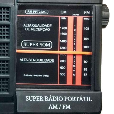 Imagem de Rádio Portátil AM/FM RM-PFT22AC - Motobras