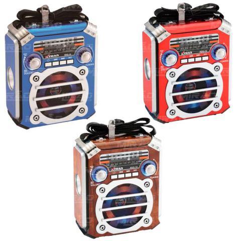 Imagem de Rádio Portátil Bluetooth AM/FM/SW 3 Bandas USB - CARTÃO SD - XDG-14