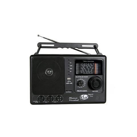 Imagem de Rádio Portátil Motobrás 12 Faixas USB RM-PFT122 AC