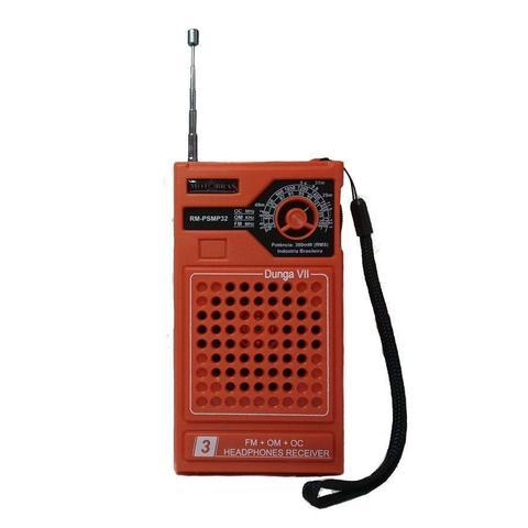 Imagem de Rádio Portátil Motobras - 3 Faixas (Am / Fm e OC) Modelo: RM-PSMP32 - Dunga - Cor Laranja