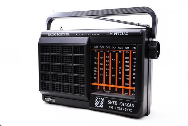 Imagem de Rádio Portátil Motobrás 7 Faixas AM-FM-OC TV Com Suporte Para Pilhas
