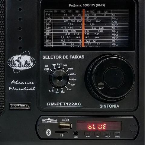 Imagem de Rádio Portátil Motobrás Rm-pft 122ac - Fm/om 12 Faixas