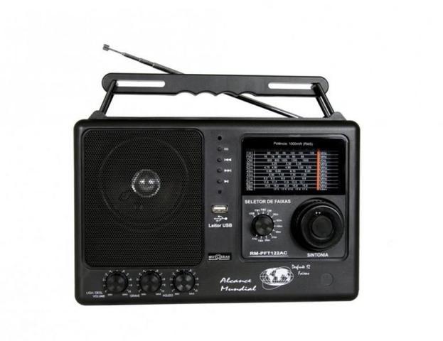 Imagem de Rádio Portátil Motobras RM-PFT 122AC - FM/OM, 12 Faixas, USB, Bivolt - Preto