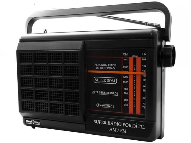 Imagem de Rádio Portátil Motobrás RM-PFT22AC - FM/AM, 2 Faixas, Bivolt
