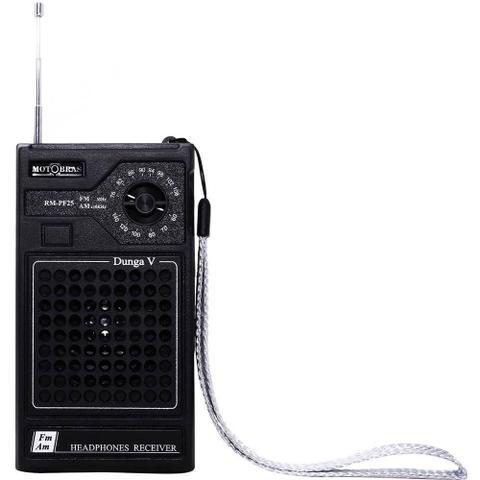 Imagem de Rádio Portátil Motobras RMPF25, AM/FM, Entrada para Fone de Ouvido - Preto