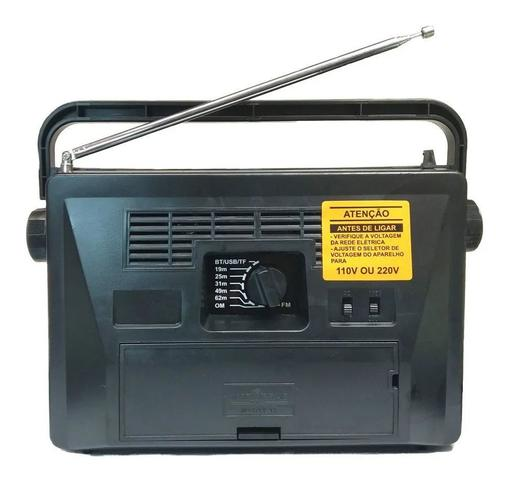 Imagem de Rádio Portátil -- Pilha e Luz -- MOTOBRÁS --  7 Faixas -- USB/Bluetooth -- RM-PU32AC