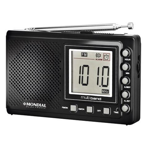 Imagem de Rádio Portátil RP-03 , Rádio AM/FM, Display Digital, Funções Relógio e Alarme, Saída p/ Fone de Ouvido - Mondial