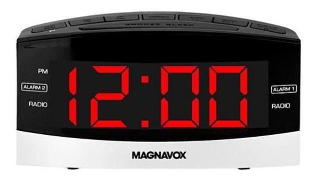 Imagem de Rádio Relógio 2 Alarmes Rádio Am Fm Bivolt Magnavox Display Led