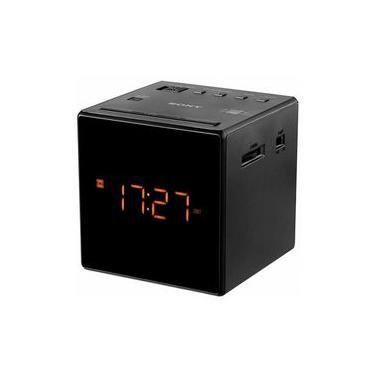 Imagem de Radio Relógio Alarme Despertador Soneca FM Sony Icf-C1 Digital 110v