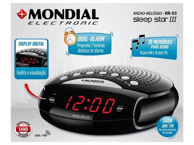 Imagem de Rádio Relógio AM/FM Display Digital