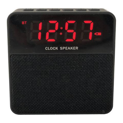 Imagem de Rádio Relógio Bluetooth Clock Speaker USB/FM/TF Card Preto - Ztg