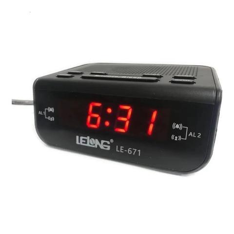 Imagem de Radio Relógio Despertador Digital Lelong 671