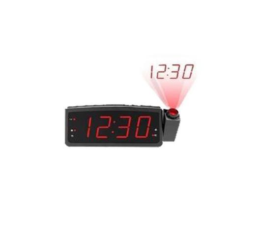 Imagem de Radio Relógio Despertador Digital Lelong Le-672 Fm Usb E Projetor Hora