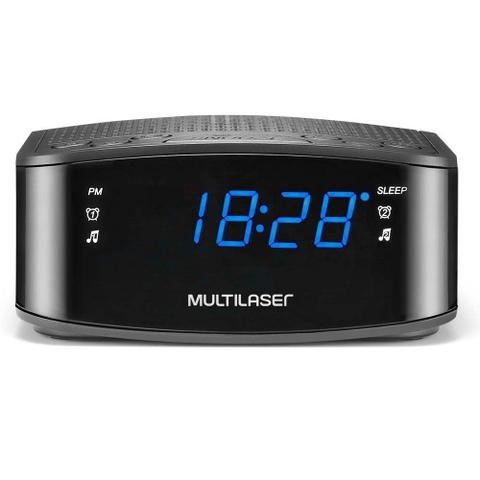 Imagem de Radio Relógio Digital Alarme Despertador  Multilaser