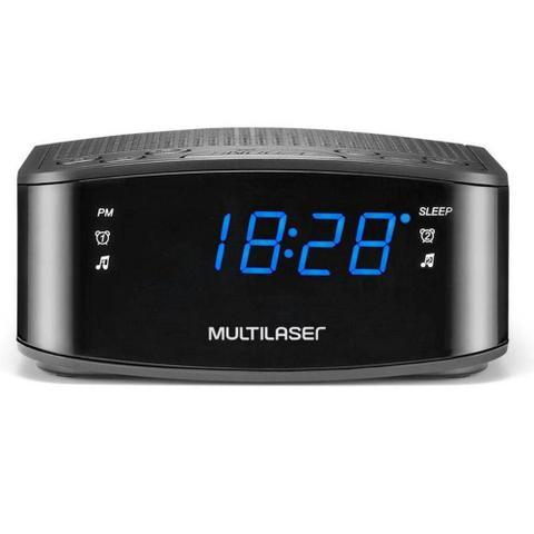 Imagem de Radio Relógio Digital Alarme Despertador Painel De Led Multilaser Sp288