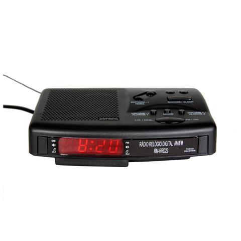 Imagem de Rádio Relógio Digital AM e FM Motobras Preto RM-RRD22