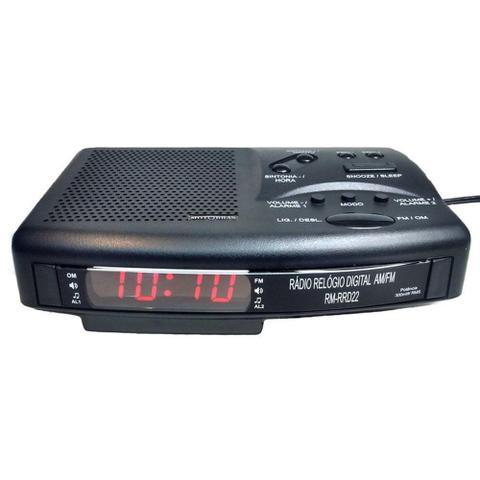 Imagem de Rádio Relógio Digital AM/FM RM-RRD22 - Motobras 110/220v - Bivolt