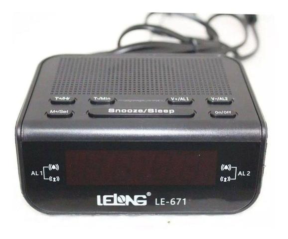 Imagem de Rádio Relógio Digital Am Fm Temporizador Bivolt Lelong 671