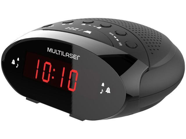 Imagem de Rádio-relógio Digital Multilaser FM SP352