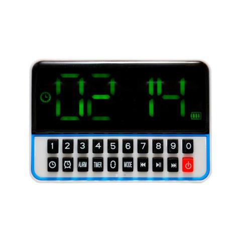 7b48254f411 Rádio Relógio FM c  Entr USB Alarme Mp3 e Auxiliar Branco WS1513 ...