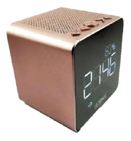 Imagem de Rádio Relógio FM Despertador Display Digital Bluetooth USB - Lelong Le-673 ROSE