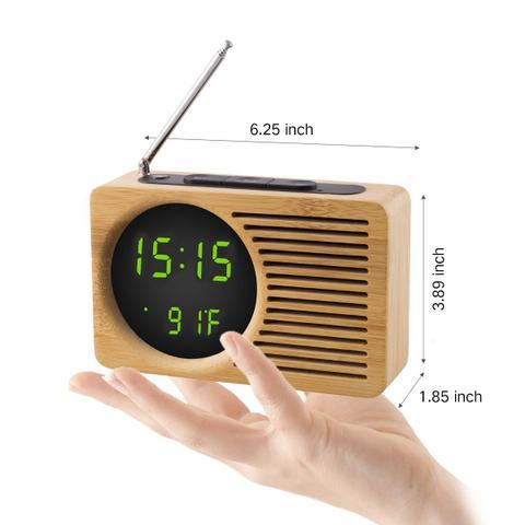 Imagem de Rádio Relógio Fm Digital Com Despertador Alarme Temperatura