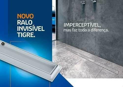 Imagem de Ralo Linear Oculto Invisível 70cm Tigre Banheiro Lavanderia