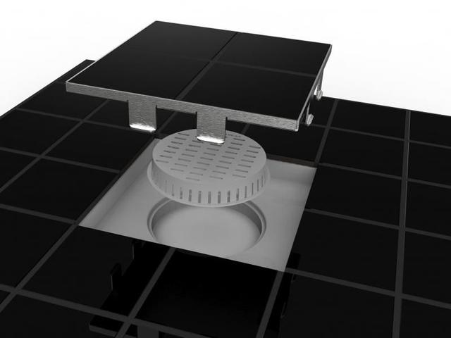 Imagem de Ralo linear square tampa oculta 15x15 cod 209 sub tampa inox