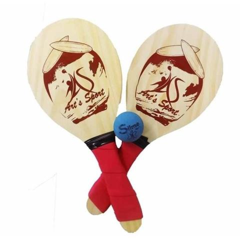 Imagem de Raquete madeira frescobol com bola bs442 / un / arts sport