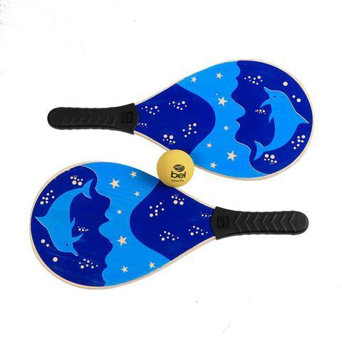Imagem de Raquetes De Frescobol Bel Sports Kit 2 Raquetes 1 Bola Praia