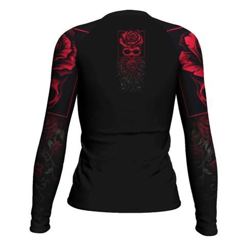 Imagem de Rash Guard Red Jiu Jitsu Feminina Atlética Esportes