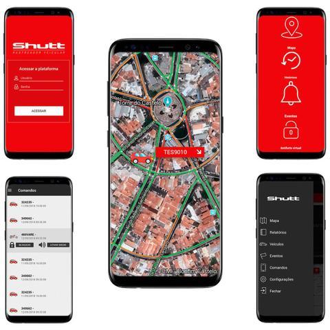 Imagem de Rastreador Veicular Bloqueador Prova D'Água Shutt + Plano Claro Anual + APP Master Android e IOS