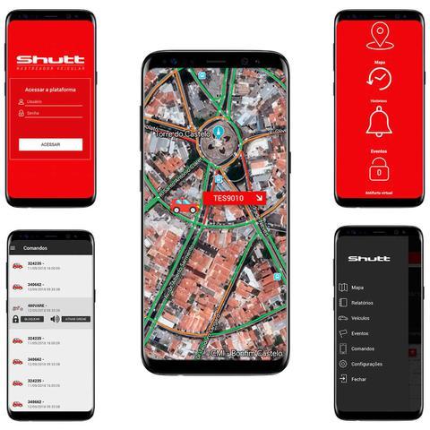 Imagem de Rastreador Veicular Bloqueador Prova D'Água Shutt + Plano Vivo Anual + APP Essential Android e IOS