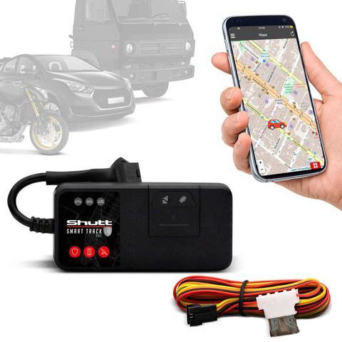Imagem de Rastreador Veicular Universal Bloqueador Carro Moto Caminhão Shutt Mini + APP Essential Android IOS