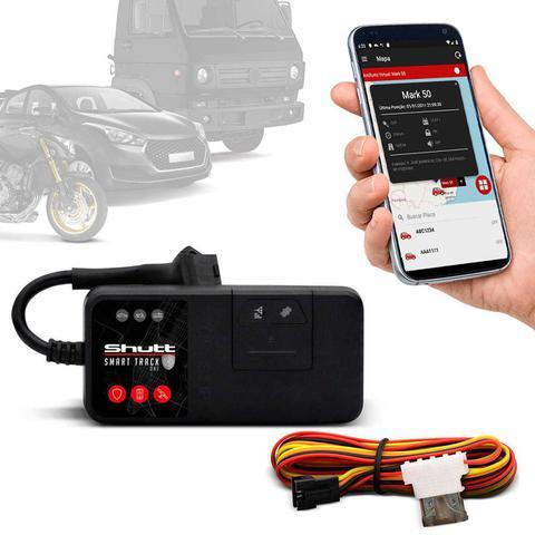 Imagem de Rastreador Veicular Universal Bloqueador Carro Moto Caminhão Shutt Mini + APP Master Android e IOS
