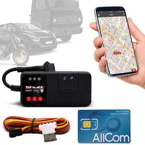 Imagem de Rastreador Veicular Universal Bloqueador Shutt Mini + Plano Tim Anual + APP Essential Android e IOS